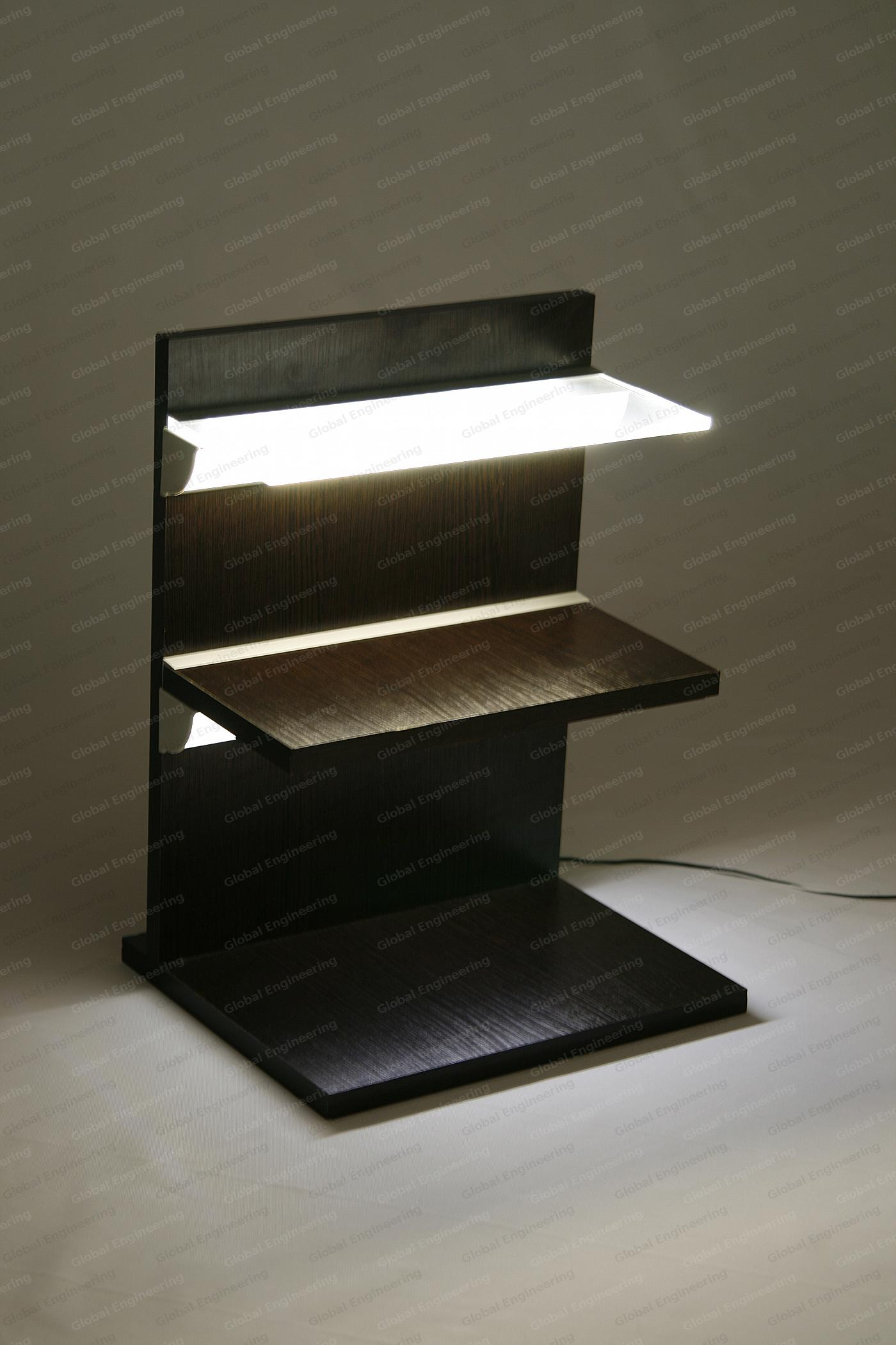 ArmLED - open-ended shelves with Illumination